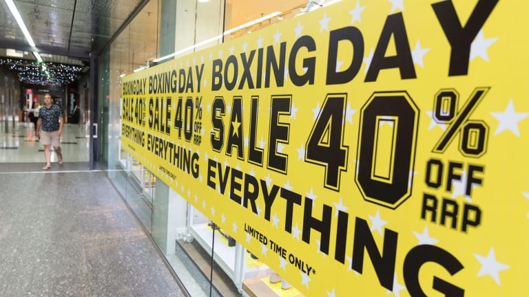 A record $2.36 billion is predicted to be spent on Boxing Day.