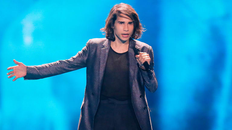Isaiah Firebrace performing for Australia at last year's Eurovision.