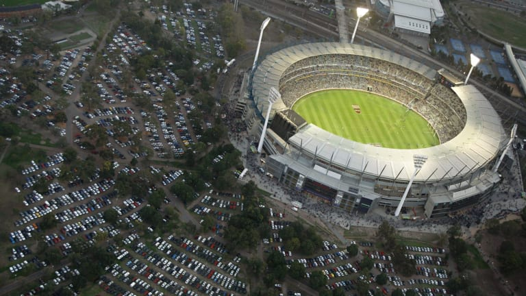 Fans will not be able to park outside the MCG for major fixtures.