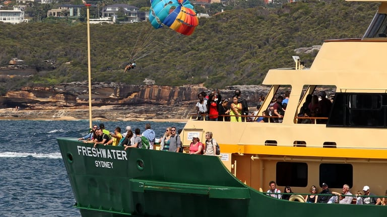 The NSW government is conducting a trial involving tap-and-go fares for the Manly Ferry.