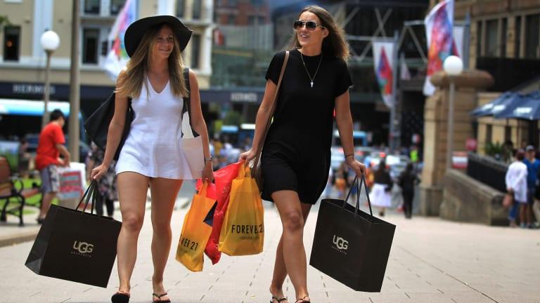Sydney Christmas shoppers.