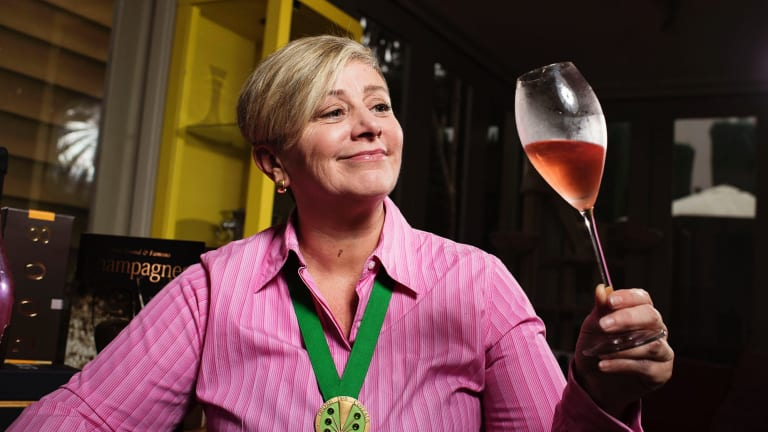 Jayne Powell says she was the original Champagne dame.