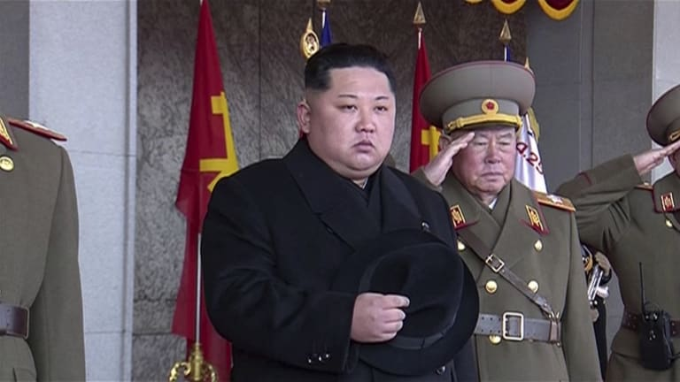 Kim Jong-un at a parade last month.