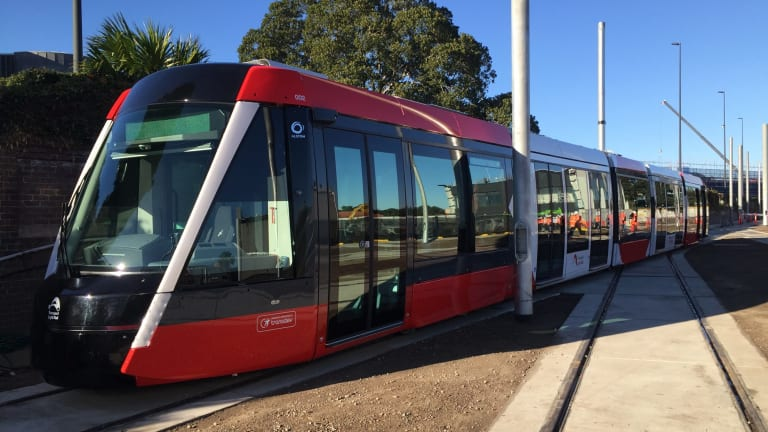 The tram sets on Sydney's $2.1 billion light rail line will be 67 metres long.