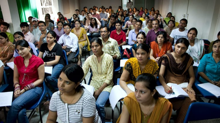 Students in India are also claiming there are delays in gaining visas to study in Australia.