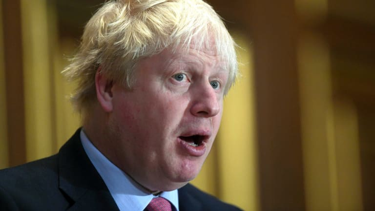 British Foreign Secretary Boris Johnson.