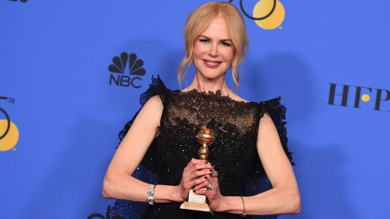 Nicole Kidman claimed the Golden Globe for best performance by an actress in a limited series or a motion picture made for television for her turn in Big Little Lies.