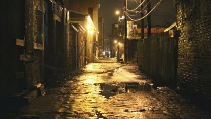What women hear walking alone at night