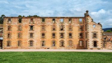 The penitentiary building at Port Arthur in Tasmania,