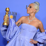 Lady Gaga's pale blue storm won at Golden Globes, but men brought their own plumage