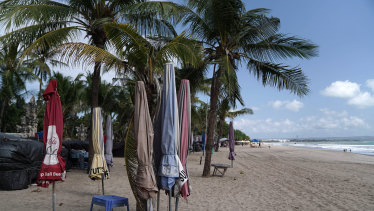 A beach in Legian, Bali, Indonesia, on Thursday, Sept. 17, 2020