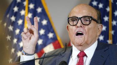Trump lawyer Rudy Giuliani.