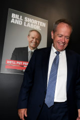 "Mr Shorten pitched Labor as the ""stable"" option."