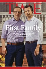 Pete Buttigieg and his husband on the cover of Time magazine.