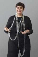 Blanche Tilden wearing her Long Conveyor II necklace.