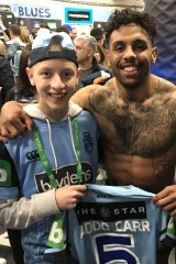Inspiration: Josh Addo-Carr with Tom Valentino.