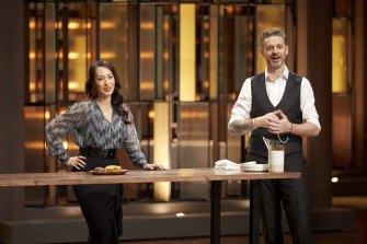 Zonfrillo with MasterChef co-host Melissa Leong.
