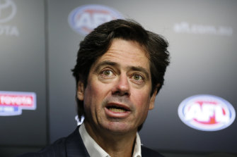 Gillon McLachlan and the AFL and Channel Seven are negotiating a potential two-year extension of the game's media rights.