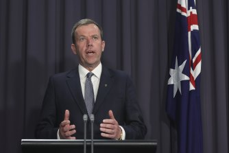 Trade Minister Dan Tehan said the government would form a travel bubble with Singapore once it was safe to do so.