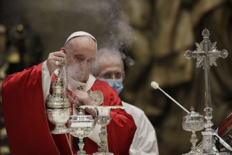 Pope Francis celebrates mass at the Vatican earlier this month.