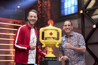 Free TV argues shows like Lego Masters, starring hosts Hamish Blake and 'Brickman' Ryan McNaught, ought to attract the same level of subsidy as drama.