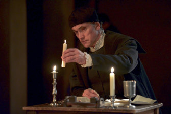 Hilary Mantel says whenever she sees Ben Miles she thinks ''here comes Cromwell''.