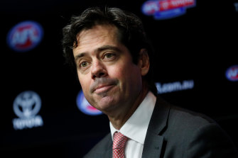 AFL CEO Gillon McLachlan says they are working on a set of protocols for the game's return.
