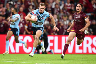 Brad Fittler's Blues will attempt to complete their clean sweep on Queensland turf.