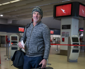 'Like a ghost town': Rod McKenzie was off to Brisbane on Wednesday.