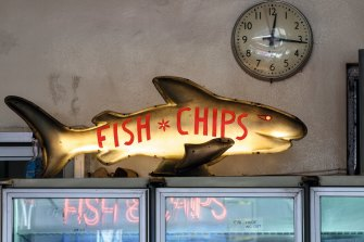 An old fish and chips shop in Northcote evokes nostalgia.