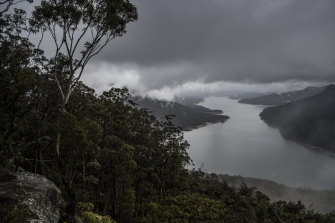 Lake Burragorang, behind Warragamba dam, is now almost 70 per cent full after nearing 40 per cent just days ago.