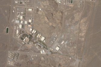A satellite photo shows Iran's Natanz nuclear facility earlier this week.
