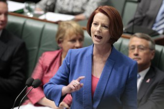 Julia Gillard delivers her famous misogyny speech against then lead of the opposition Tony Abbott.