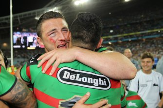 Sam Burgess etched himself into grand final folklore in the 2014 decider.