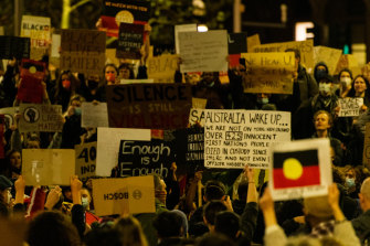 A protest in Sydney's CBD this week against Indigenous deaths in custody