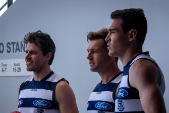 New Cats Isaac Smith, Shaun Higgins and Jeremy Cameron.