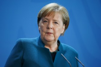 German Chancellor Angela Merkel is working from home, but is said to be healthy.