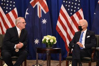 President Joe Biden meets  Australian Prime Minister Scott Morrison this week.