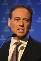 Federal Health Minister Greg Hunt.