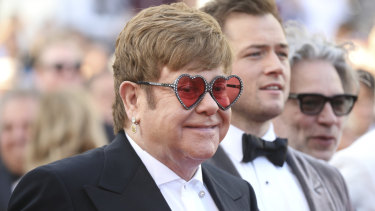 Emotional Elton watches his life play before him at Cannes