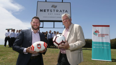 Grounds for concern: A cloud hangs over Network Strata Services' successful bid to win naming rights for Kogarah Oval.