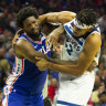 Embiid, Towns banned for two games for NBA brawl, Simmons in the clear