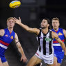 Magpies elbow the Bulldogs aside