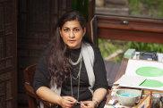 Nusra Latif Qureshi in her Melbourne studio.