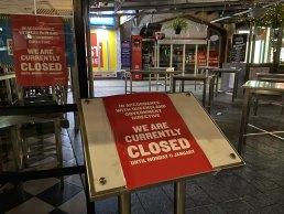 Deserted Queen Street Mall in Brisbane's CBD.
