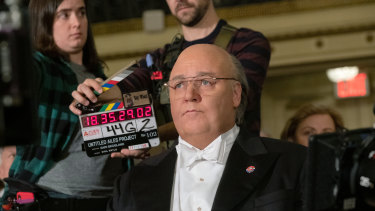 Russell Crowe as Roger Ailes in The Loudest Voice, for which he has been nominated for a Golden Globe.