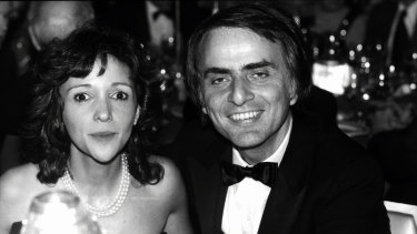 Ann Druyan and Carl Sagan, pictured in New York circa 1980, offered late-night inspiration.