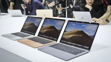 Apple's new MacBook Air at the announcement event last month.