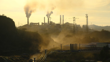 Coal power plants located 200 kilometres north-east of Beijing. China already burns half the world's coal.