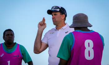 Former Australian sevens assistant coach Jarred Hodges helped organise the road show.